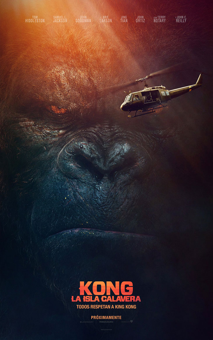 Póster en español de 'Kong. La Isla Calavera'