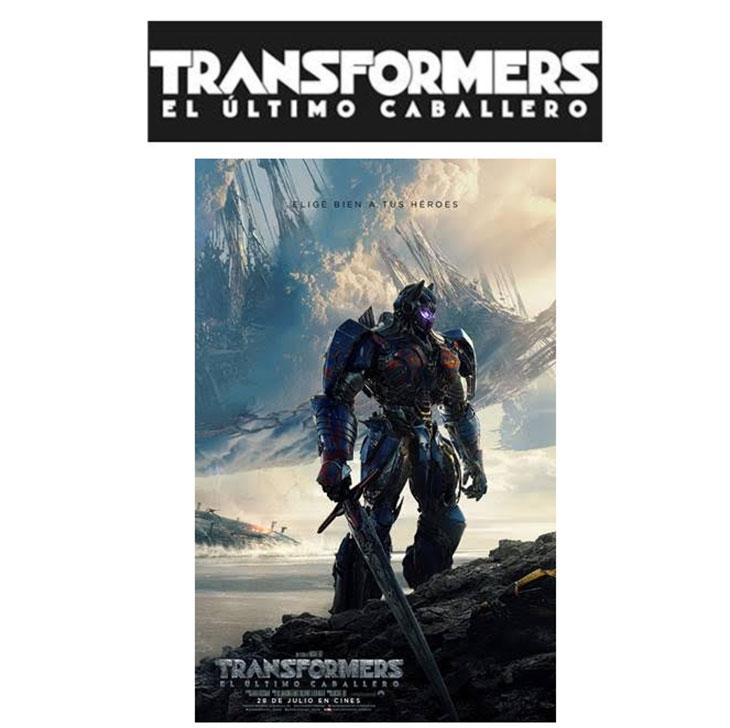 Póster en español de 'Transformers: el último Caballero'