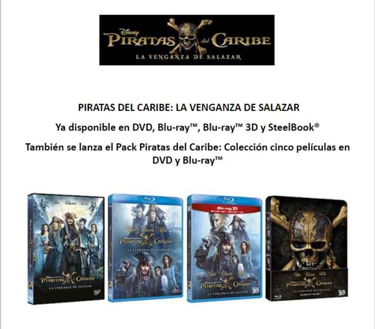 Todas las ediciones de 'Piratas del Caribe: la venganza de Salazar'