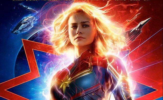 Póster de Capitana Marvel destacada