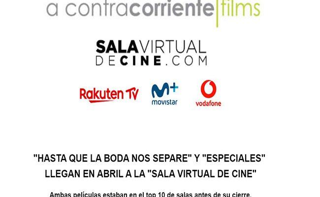 Sala virtual de cine destacada