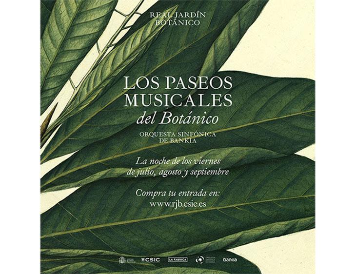 Póster de Paseos Musicales del Botánico